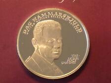 Sweden Dag Hammarskjöld Nobel Peace Price Official 1oz Silver Proof Medal 1961
