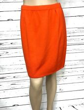 St. John Sportswear Women's Orange Knit Skirt Size 6