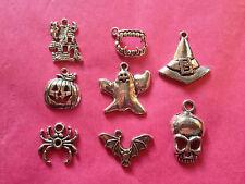 Tibetan silver Mixte Halloween / SPOOKY charmes 8 par pack