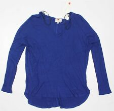 ONE CLOTHING Women THERMAL KNIT HIGH LOW BLUE M
