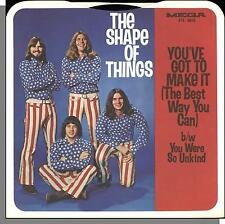 """The Shape of Things - You've Got to Make It - Rare Promo 7"""" 45 RPM Single!"""