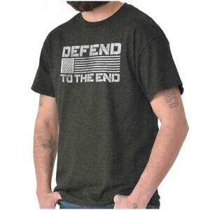 Pro  Gun Rights American Flag 2nd Amendment Womens or Mens Crewneck T Shirt Tee