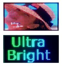 "25""x 12"" Full Color Video Semi Outdoor LED Sign Programmable Scrolling Message"