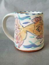 Eggerman Pottery Boulder Colorado Painted Fish Coffee Mug