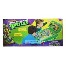 TMNT Ninja Turtles Tabletop Pinball Machine Game  LCD Scoring Light & Sound