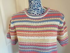 Ladies short sleeve knitted Top, By Orvis. Size L