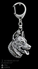 Beauceron silver covered keyring, high quality keychain Art Dog