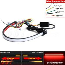 Motorcycle Switchback Flowing LED Strip Light Sequential Turn Signal Brake Lamp