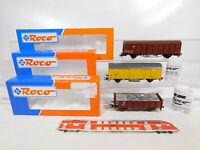 CD103-0,5# 3x Roco H0/AC Güterwagen DB NEM: 47829 + 46944 + 46411, NEUW+OVP
