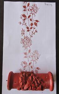 alte Musterwalze Strukturwalze Malerrolle Ringwalze floral Rose Rosen