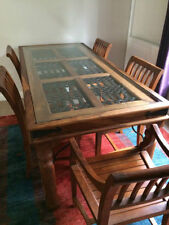 Teak Up to 8 Seats 7 Pieces Table & Chair Sets