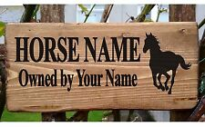 Personalised Pony Horse Name Sign Stable Door Livery Plaque Plate Box Rustic New