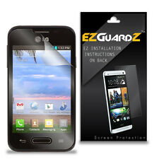3X EZguardz LCD Screen Protector Cover HD 3X For LG Optimus Fuel L34C (Clear)