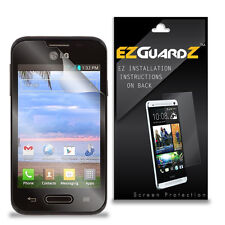 2X EZguardz LCD Screen Protector Skin HD 2X For LG Optimus Fuel L34C (Clear)
