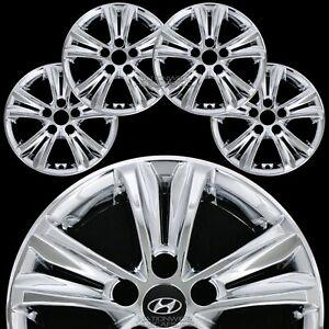 "Set of 4 fit Hyundai Sonata 2011-2014 Chrome 16"" Wheel Skins Hub Caps Rim Covers"