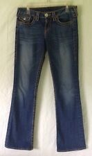 True Religion Rainbow Becky Denim Blue Jeans Women's Size W29 L32 Pre-owned