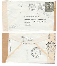 Belgian Congo Censored WWII 1945 Cover to US Double Censor Tapes Dual Postmarks