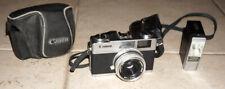 Canonet 28 Vintage 35mm Film Camera Range Finder Classic Flash Light Meter Case