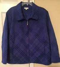 Erin London Womens Blazer Jacket IRIS BLUE W/POCKETS  SZ 3X NWOT NICE!!!!