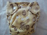 Newborn Preemie Minky Stich Cartoon AIO Cloth Diaper Nappy PUL EB0601