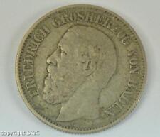 Coin Münze 2 Mark Friedrich von Baden 1876 G J.26 Kaiserreich Silber 11598