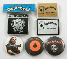 MOTORHEAD BADGES 7 x Vintage Motorhead Pin Badges * Lemmy * Warpig *