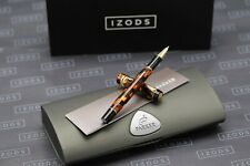 Parker Duofold Check Amber Rollerball Pen