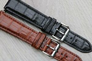 Veritable Alligator Leather Luxury Padded Watch Strap 20mm