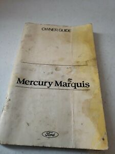 1982 Ford Mercury Marquis Owners Guide Manual Complete