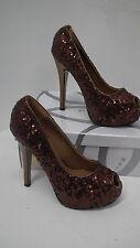 BNIB Brown Seqin Peep Te High Heels size 4 from Kayla Shoes