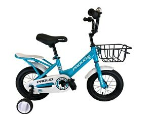 PROUD Kids Bike for Boy/Girls Bicycle with Training Wheels 12 Inch 2-4 years a