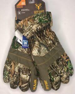 Hot Shot Men's Realtree Camo Gloves Waterproof Size M, L   FREE SHIPPING