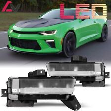 Winjet For Chevy Camaro 16-17 Clear Lens Pair OE DRL Light+Wiring+Switch Kit