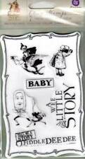 New PRIMA rubber stamp cling SET BEDTIME STORY VINTAGE NURSERY free usa ship