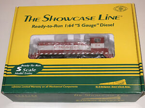 S Scale The Showcase Line 01250 SW-9 FRISCO #2 314 Locomotive S-Helper NIB