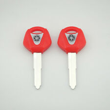 2 pcs Red Blank Key Uncut for Yamaha YZF R1 R6 FZ1 FZ6 600R XJR1300 Motorcycle
