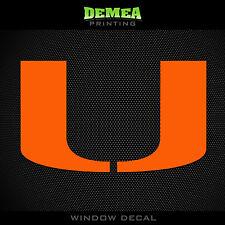 "Miami Hurricanes - NCAA - Orange Vinyl Sticker Decal 5"""