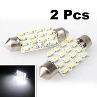XD# 2x White 42mm 16 LED SMD Festoon Dome Light Interior Car Light Lamp Bulb 12V