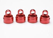 TRAXXAS 3767X Tappi Ammortizzatori Rossi/SHOCK CAPS ALUMINIUM RED TRAXXAS