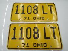 1108 LT 1971 Ohio License Plates Ford Chevy Dodge Pontiac Plymouth Buick AMC 71