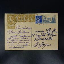 FRANCE LETTRE COVER ENTIER POSTAUX 403-CP1 BASSE PYRÉNÉES 1947 POUR LA BELGIQUE