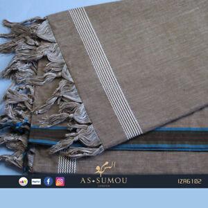 Super soft Mens Traditional Yemeni Izaar Mawaz Sarong Lungi Beachwear Dhoti Wrap