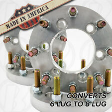 """Dodge 6 to 8 Lug Wheel Adapters / 1"""" Spacers 