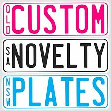 SET Of 2 KIDS NOVELTY NUMBER PLATE MINI CUSTOM PERSONALISED FOR KIDS RIDE CARS