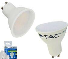 FARETTO GU10 7 WATT LAMPADINA A LED V-TAC LUCE CALDA 3000K RISPARMIO ENERGETICO