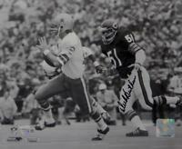 Dick Butkus Signed 8x10 Bears Against Cowboys B&W PF Photo- Fanatics Auth *Black