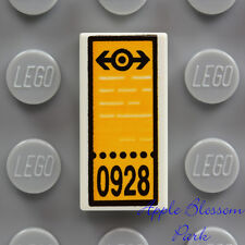 NEW Lego Minifig TRAIN TICKET 1x2 Printed White Tile - Lottery Game Bus Car Pass