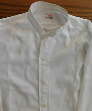 Striped white tunic shirt 14 Gossamatex 1920s 1930s  Boys Mens vintage clothes