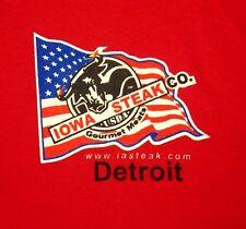 IOWA STEAK CO. lrg T shirt USDA gourmet meats Beef for Dinner tee Detroit USA