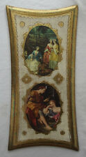 """LOVELY VINTAGE ITALIAN FLORENTINE TOLEWARE WOOD WALL PLAQUE 15"""""""